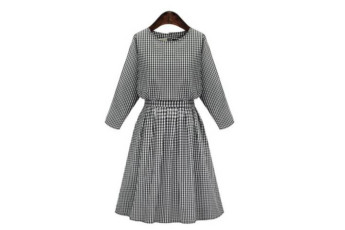 Europe winter 2015 new women's fashion lattice dress with bow