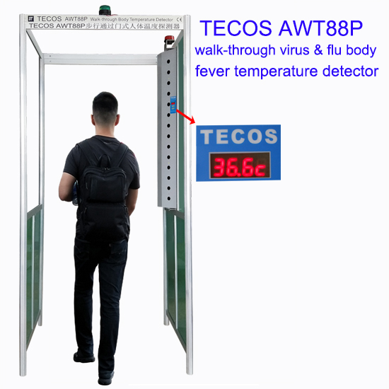 Walk-through medical thermometer gate, COVID-19 body thermal camera scanner body temperature scanner