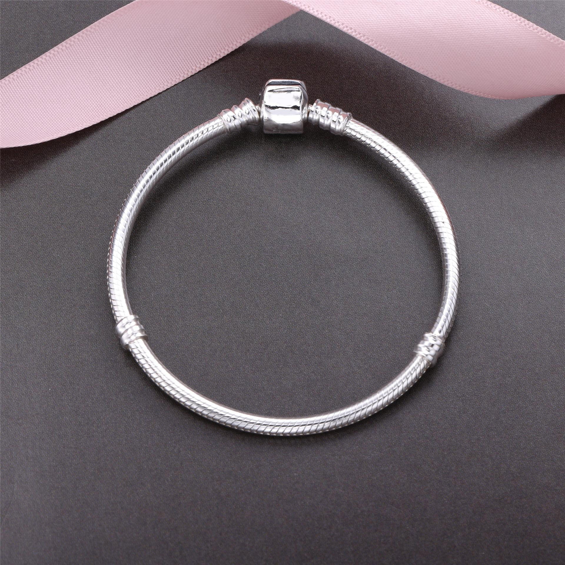 925 Sterling Silver European Bracelet for Girl Women