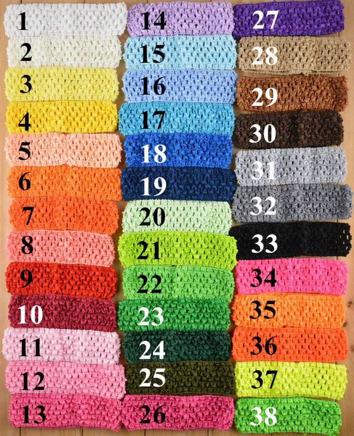"1.5"" baby headband,crochet,elastic band"