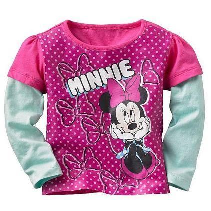 minnie long sleeve girl t-shirt ,children t-shirts
