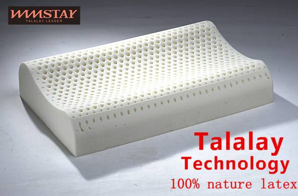 Talalay Technics Process 100% Nature Latex Foam Pillow Standard Pillow Contour Pillow Curved Pillow
