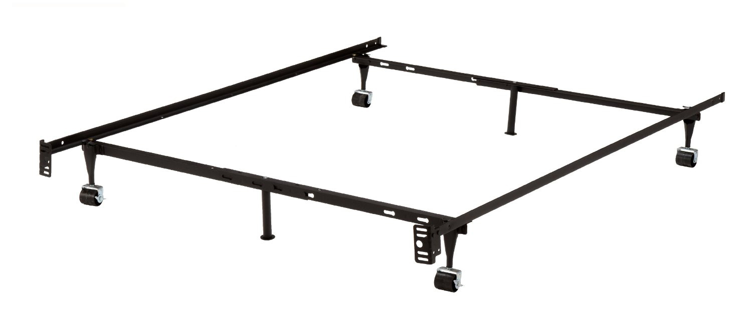 heavy duty adjustable metal bed frame with center support twin full size