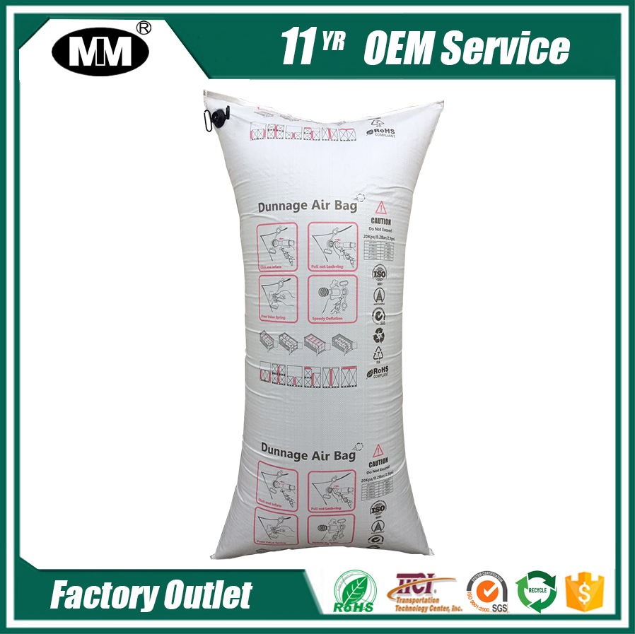 Truck Void Fill Air Packing Paper PP Woven Dunnage Bag