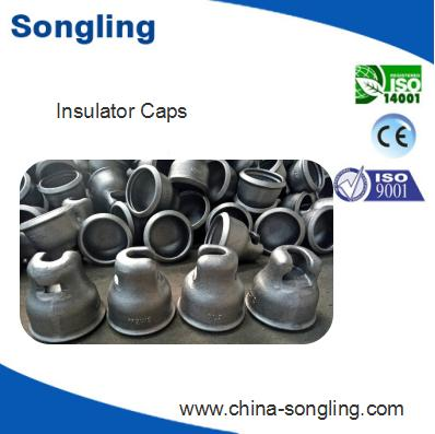 Clevis type steel cap for suspended glass insulator