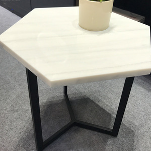 Sexangle Hotel hall Solid Surface 450mm Height coffee table