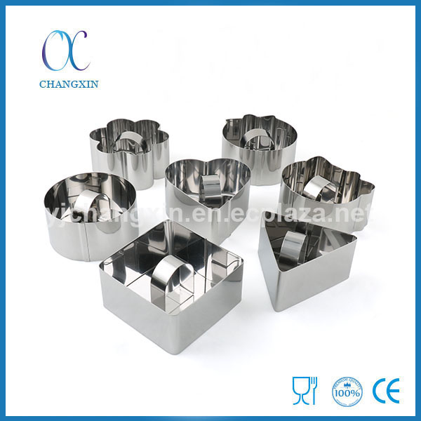 DIY Different Shapes Cookie Mould Set 7 Pieces Stainless Steel Cookie Cutter Set
