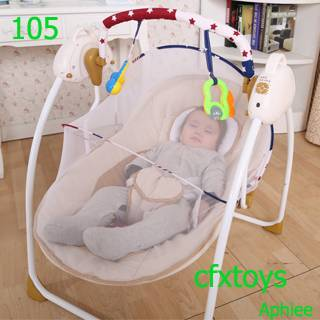 Multifunction Electric Baby Rocker Swing Cradle Baby Cribs Stroller Baby Plush Rocking Chair with Mu