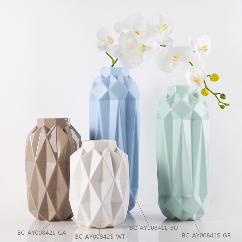 Interior decorative porcelain ceramic flower porcelain vase