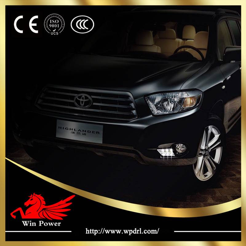 2012 Newest high quality Toyota Highlanderled daytime running lights DRL with CE E-Mark