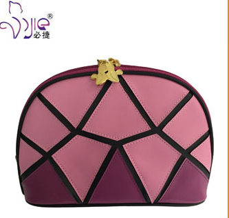 Popular Joint Stiching Semicircle Cosmetic Bag