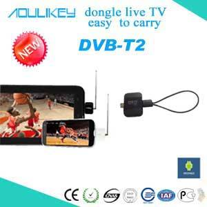 Mobile digital TV receiver/tuner/dongle with USB for DVB-T2&DVB-T on Android D202-1