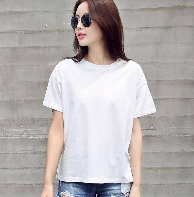 Factory Price Women's Clothes White Cotton Cheap Women's t shirts