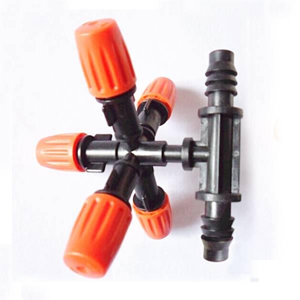 iLOT low pressure rocker nozzle, mist irrigation spiker