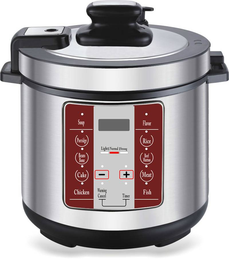 5L Stainless Steel Electric Pressure Cookers with Digital Control (ZH-A508)