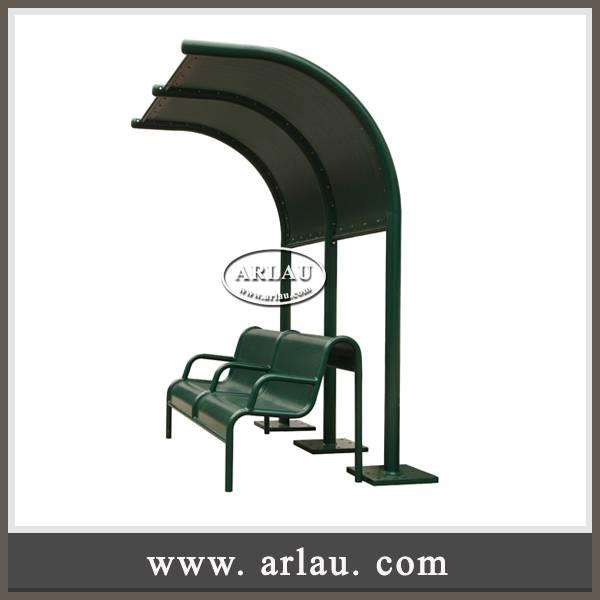Arlau patio furniture, outdoor steel benches, metal pergola shelter
