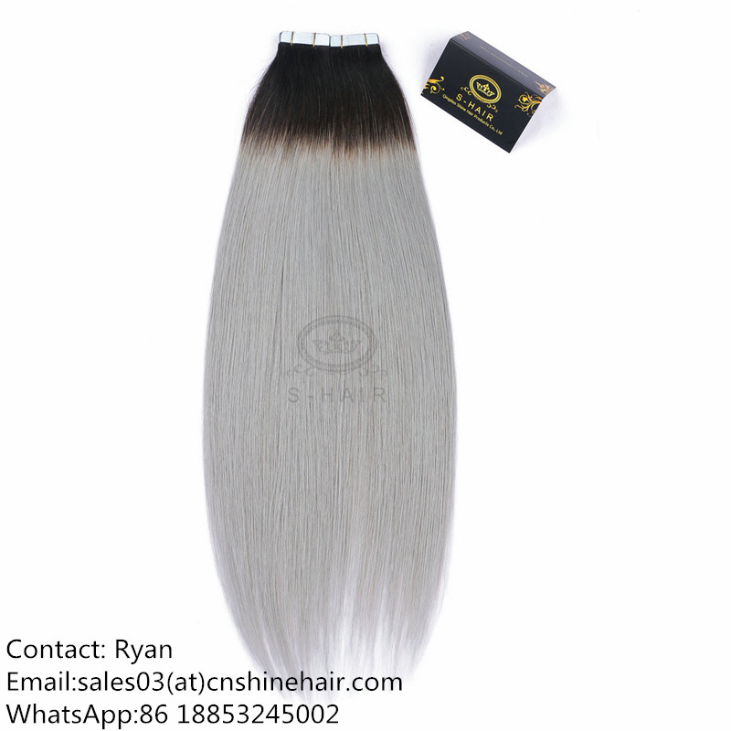 Tape Hair Extension #1B/Gray