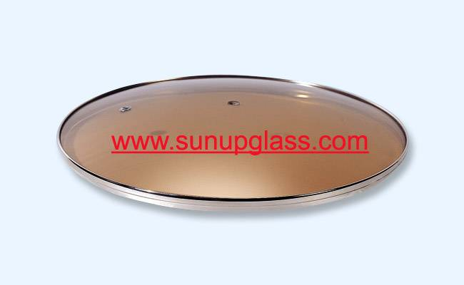 tempered brown glass lid glass cover for cookware