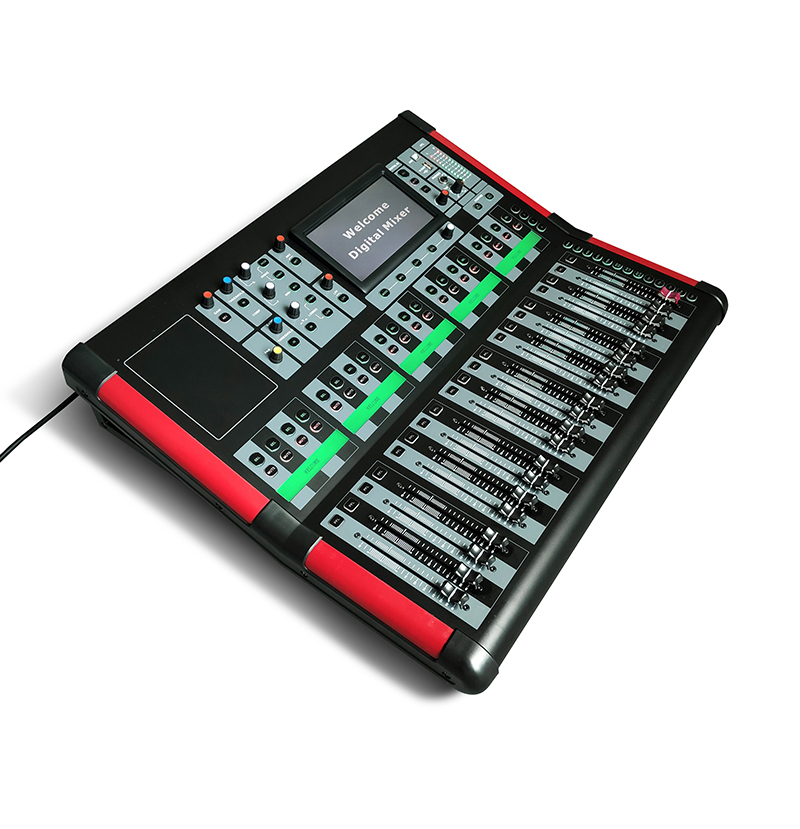 Professional sound system digital 10 to 32 channel mixer console