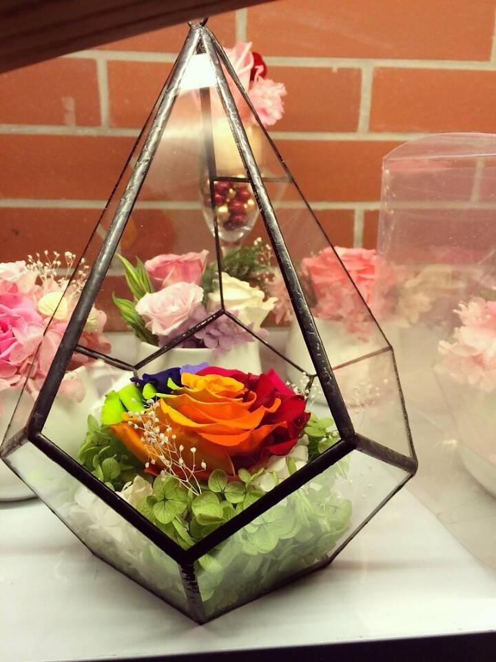 seven color fresh preserved flower