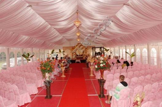 span 10m outdoor luxury wedding tent  with transparent wall