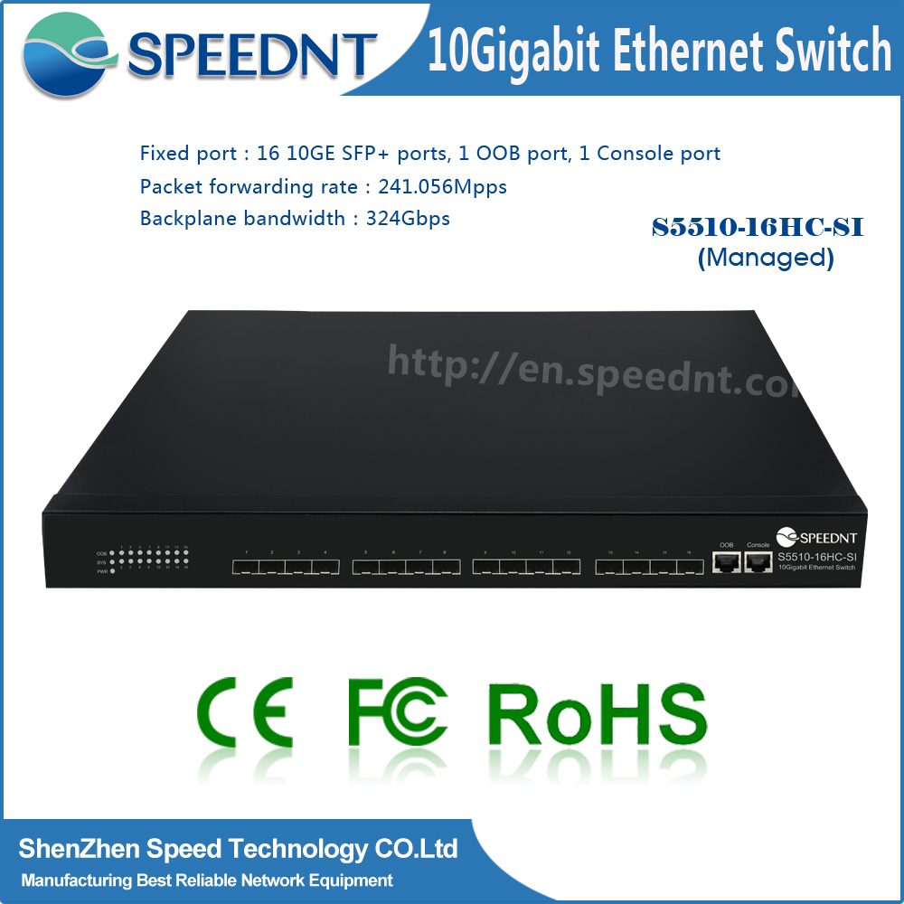 Speednt new original 10Gigabit network switch 16 port 10g fiber switch