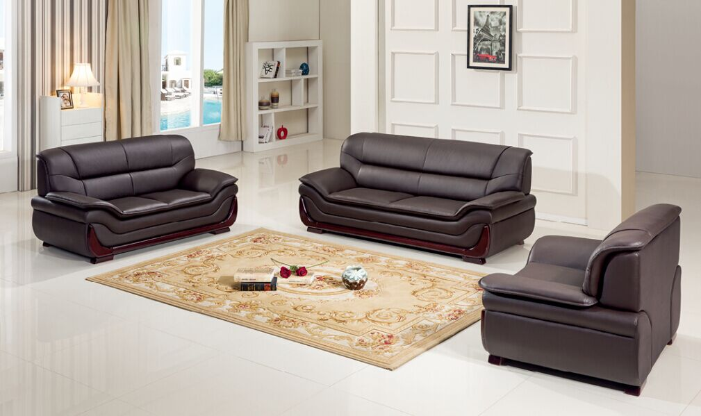 Modern Living Room 1+2+3 Leather Sofa