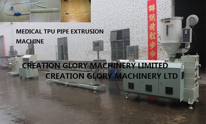 High precision TPU medical tubing plastic extruder machine