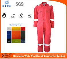 manufacture CVC FR fire resistant factory worker clothes coverall
