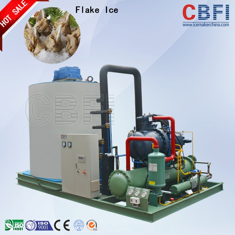 Flake ice machine for fishing