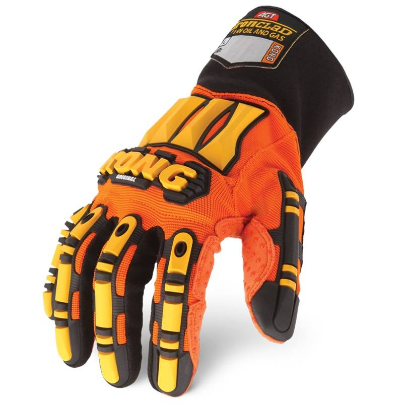 OIL AND GAS INDUSTRAIL KONG ORIGINAL ironclad Impact Protection Gloves - Orange Hi Vis Palm GLOVES
