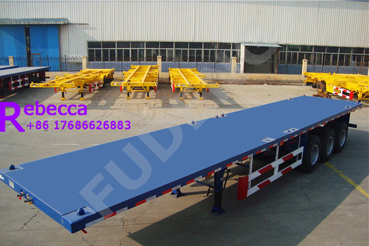 40ft 3 axle flatbed trailer flatbed container semi trailer