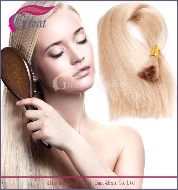 Blonde color 7A grade virgin Russian hair bulk
