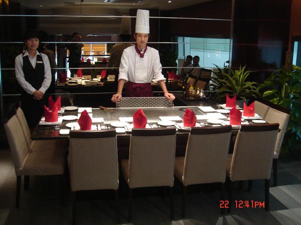 Rectangle Teppanyaki Grill Table