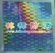 Transparent hologram sticker label