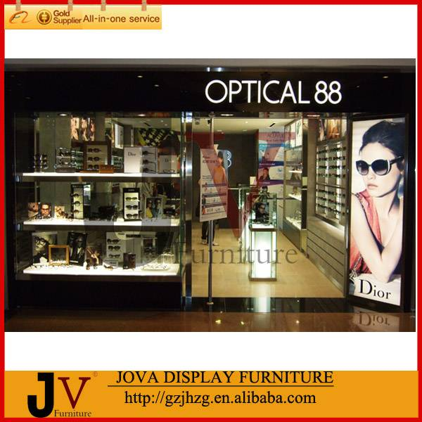 Luxurious sunglasses display showcase and counter
