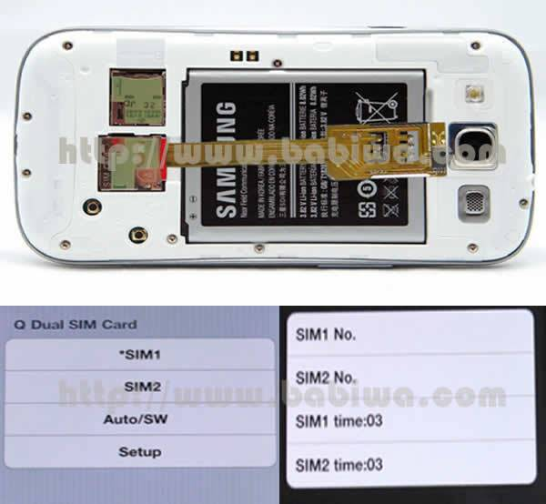Dual Sim Card Adapter for Samsung Galaxy S3 I9300 SIII