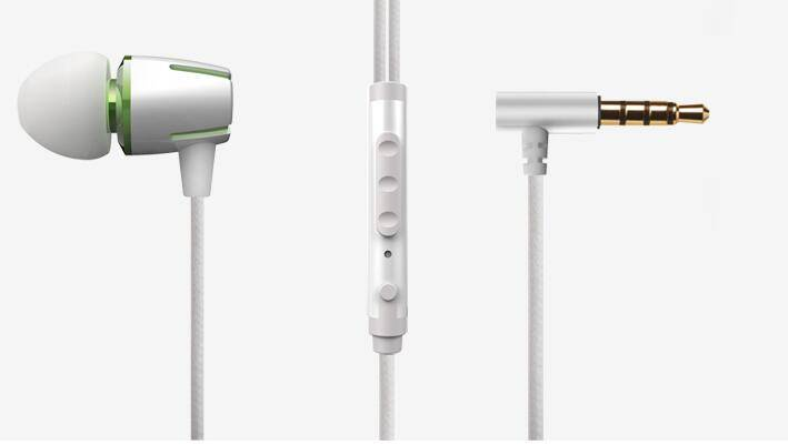 in-ear metal earphone E72, plastic earphone,in line-control headset portable earphone