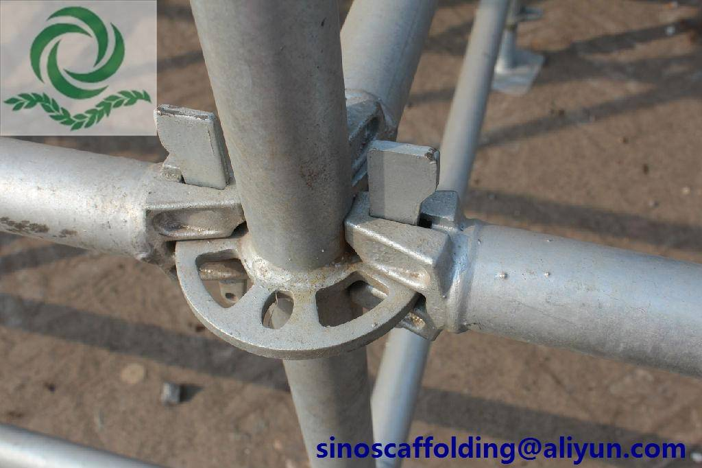 quick stage scaffolding of ringlock