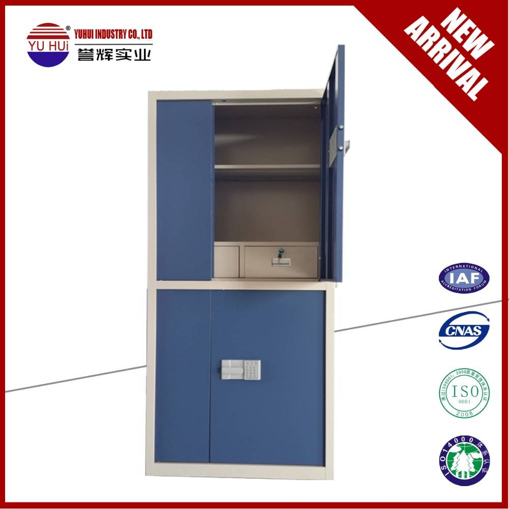 Blue office use safe cabinet with electronic code lock