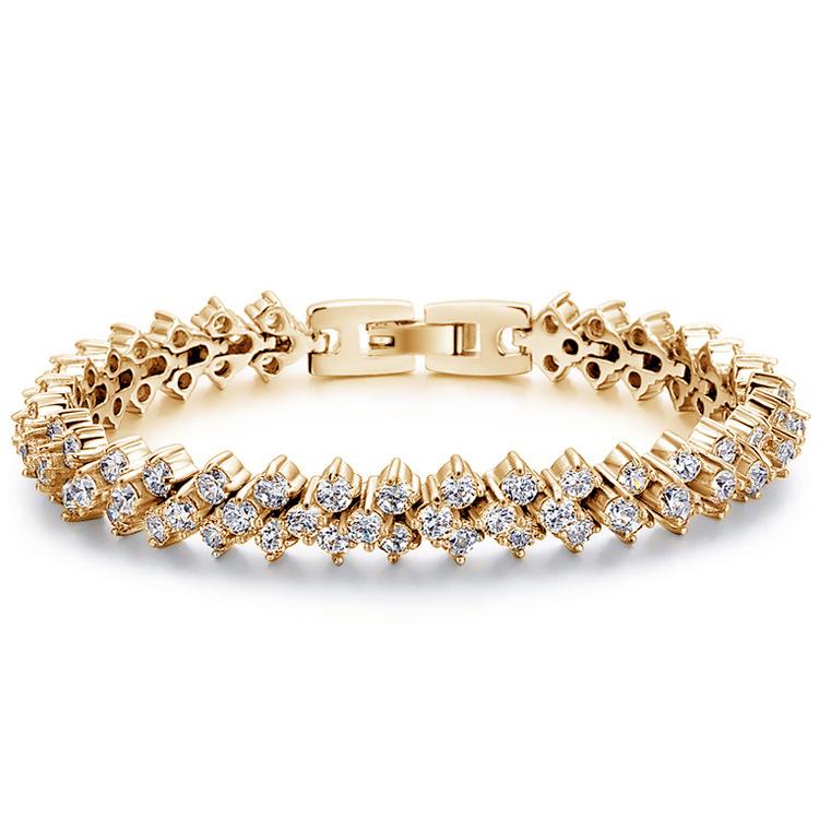 elegance & nobleness 316L stainless steel 2.5mm prong setting diamond tennis bracelet