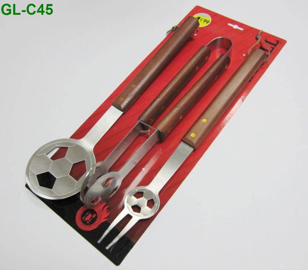 Football shape bbq tools set