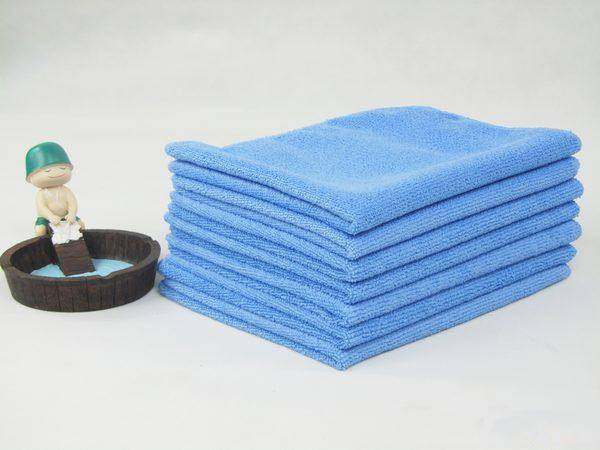 Absorbent microfiber car detailing towel