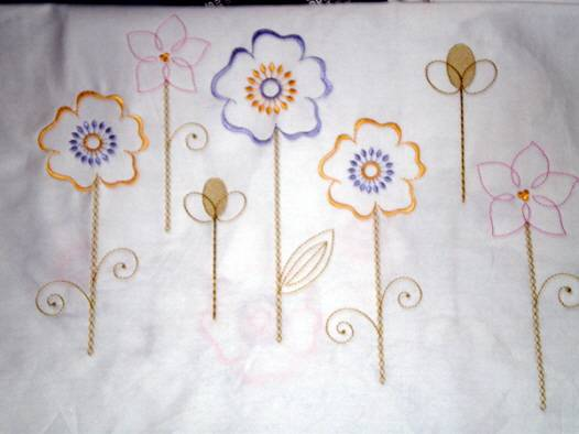 Textile Embroidery for Bedclothes