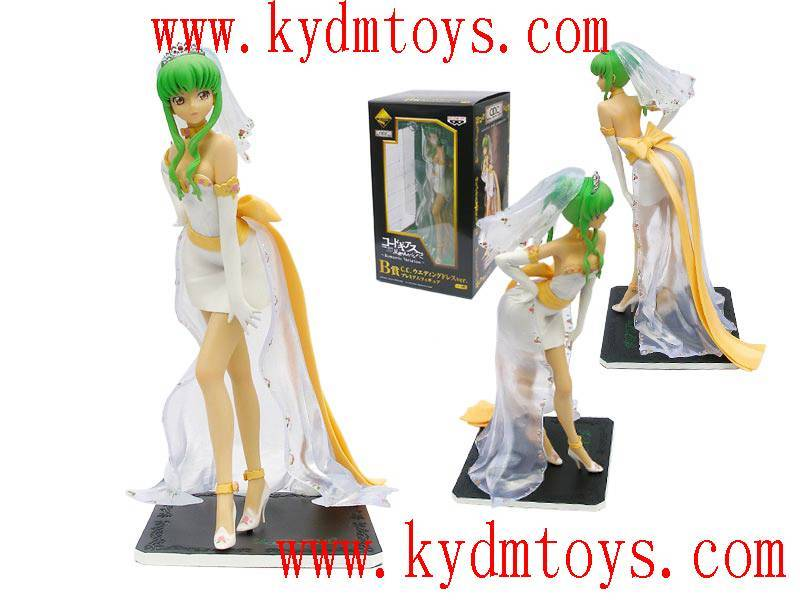 MOQ(USD300) 25cm C.C for Code Geass sexy japanese anime figures (pc) ky2062