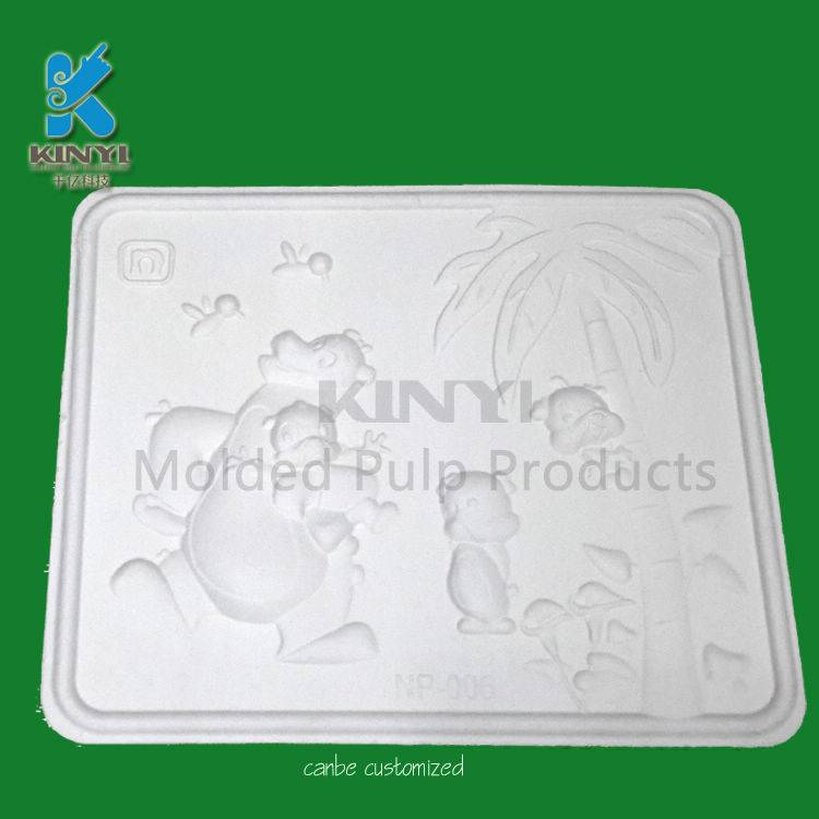 Biodegradable recycling material molded pulp paper crafts