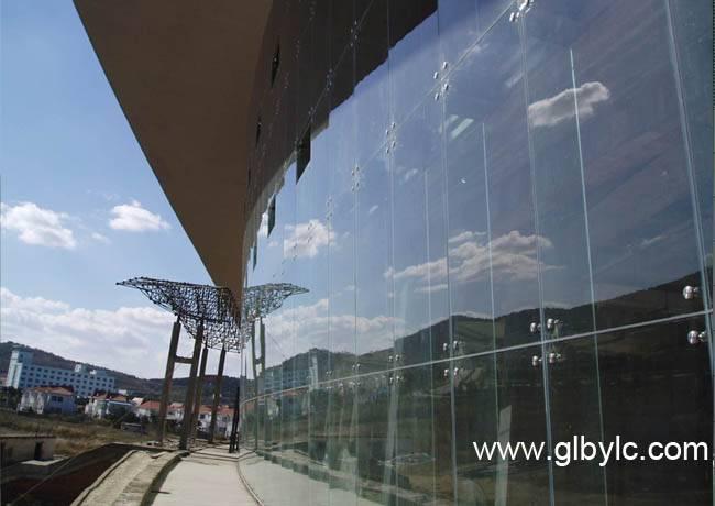 Stiffen fin glass&Point Glazing Full Curtain Wall