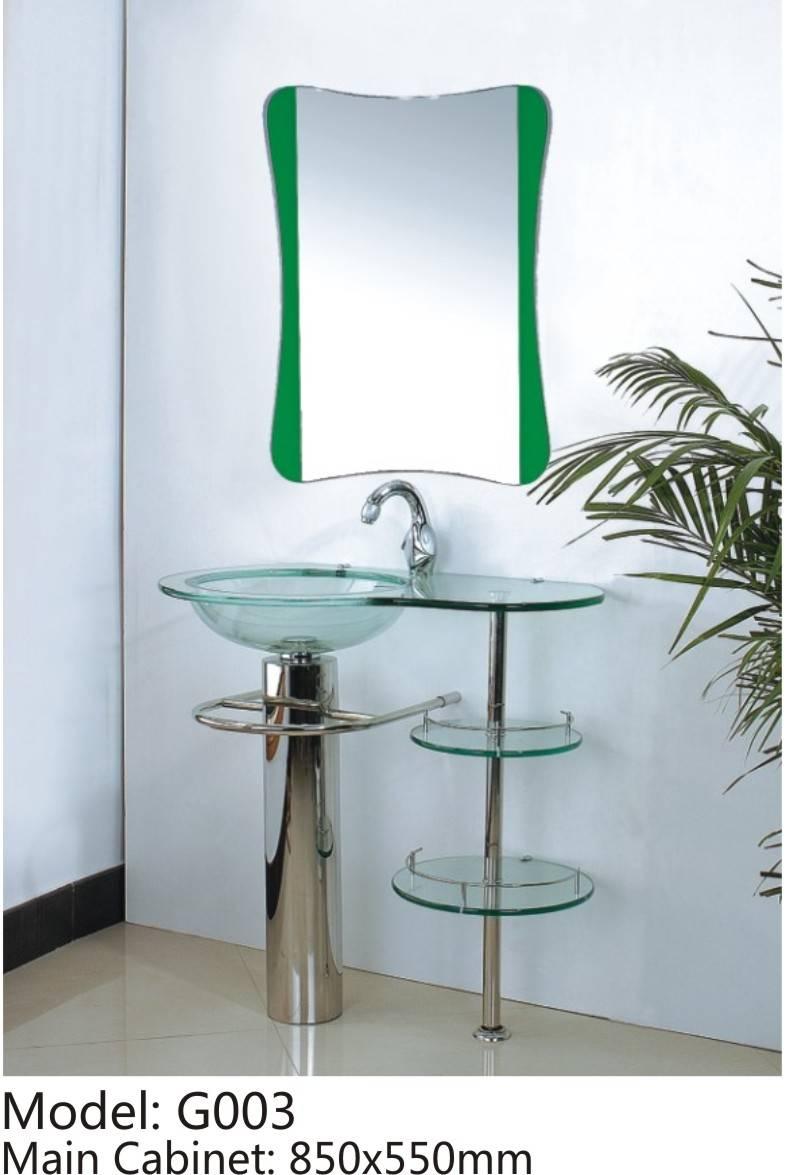 Glass Bath Cabinet combo G003
