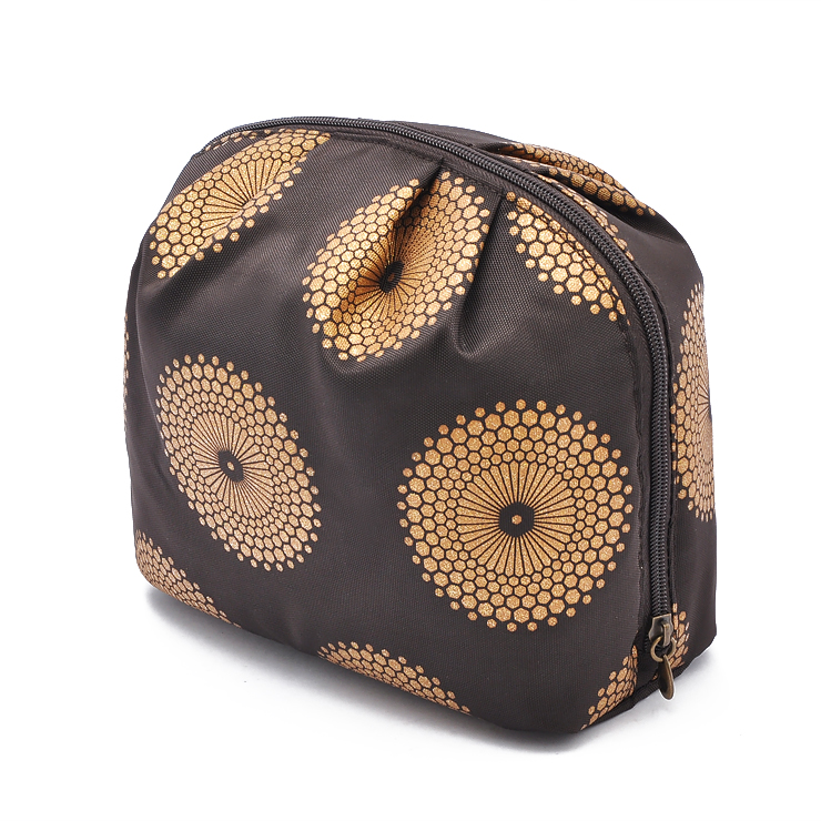 Brown faille cosmetic bag fxsdl04