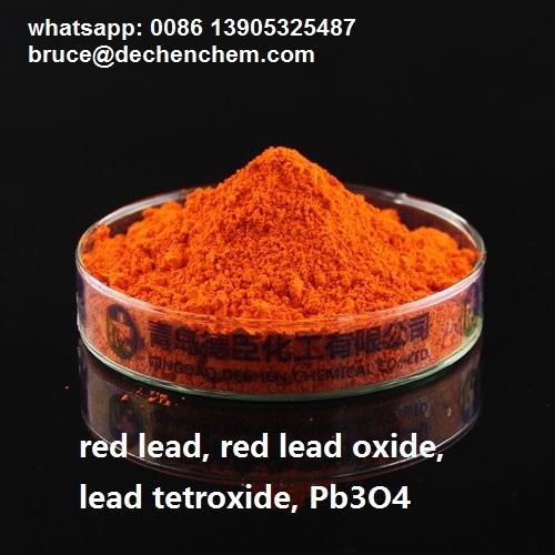 Red lead oxide, lead tetroxide, Pb3O4, CAS 1314-41-6